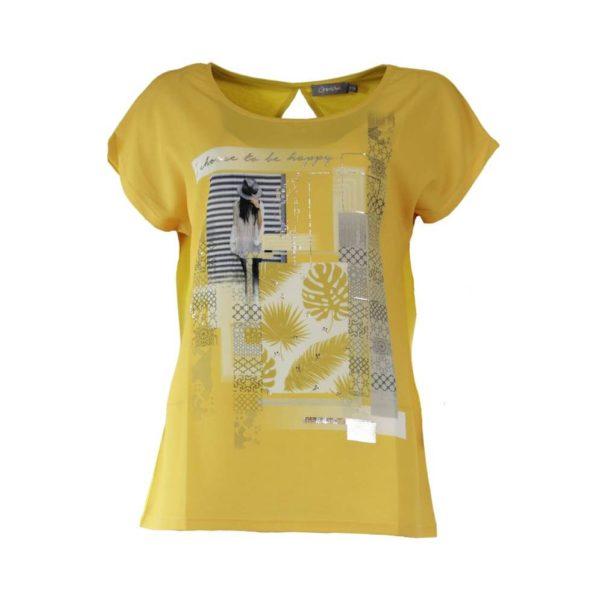 Geisha shirt 93251 okergeel