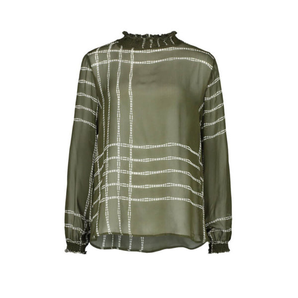 Expresso blouse Lucy olijf groen