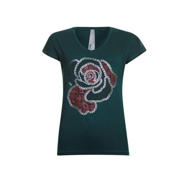 Poools shirt 933212 groen met korte mouw
