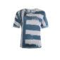 Mooi Poools getreept t-shirt in blauwe print