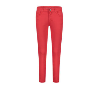 Para Mi broek Celine met split in de kleur rood