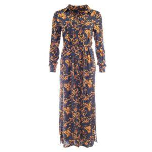 NED jurk Lola LS Fudge Sketch Flower Woven